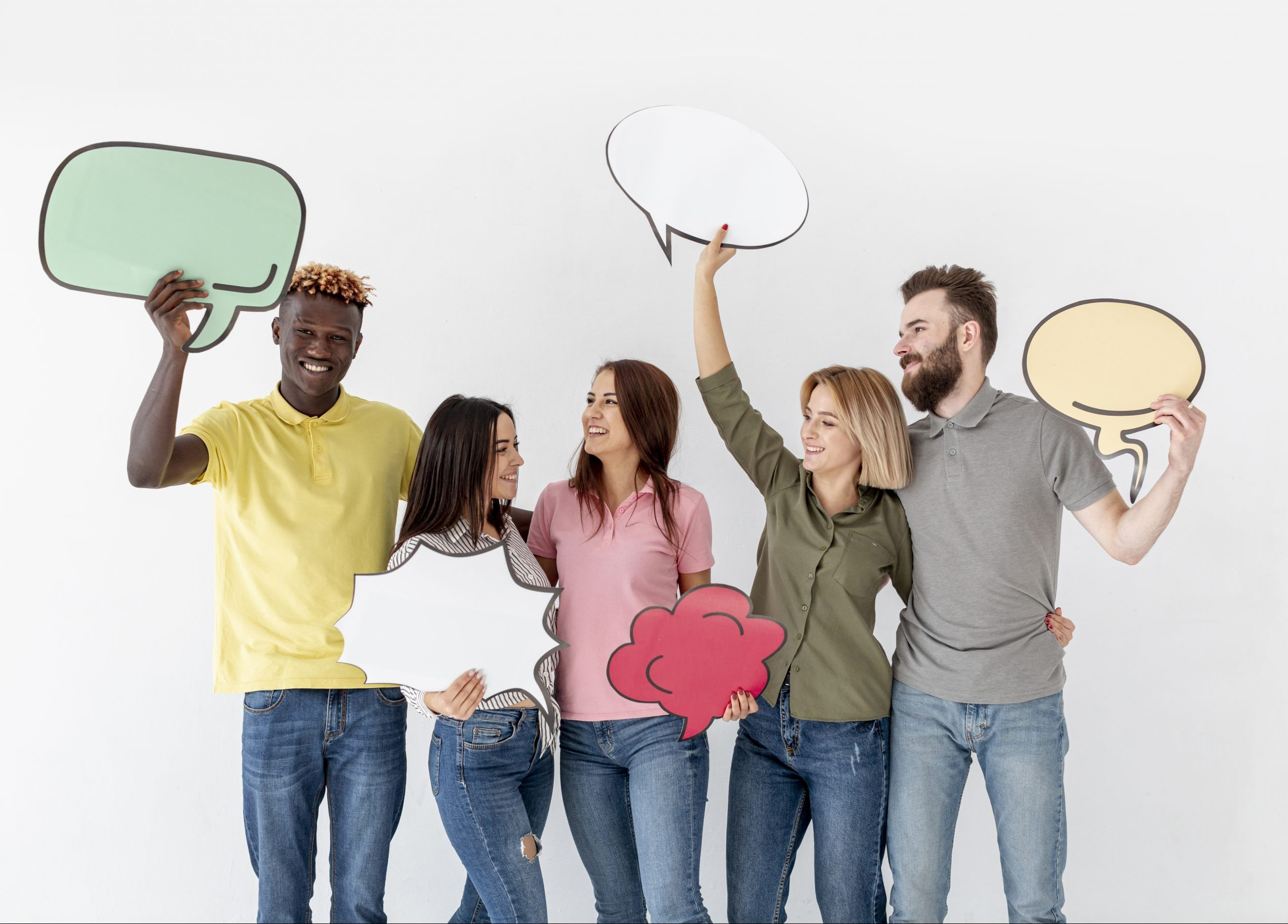 copy-space-young-friends-holding-chat-bubble